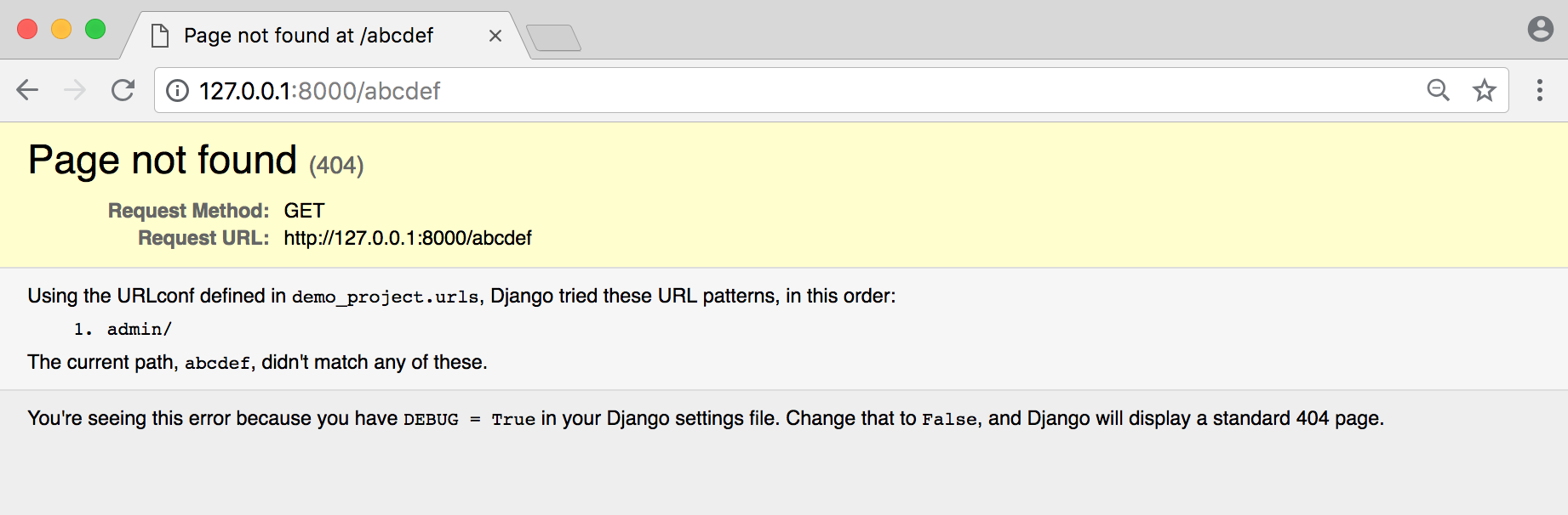 Django Local 404 Page - William Vincent