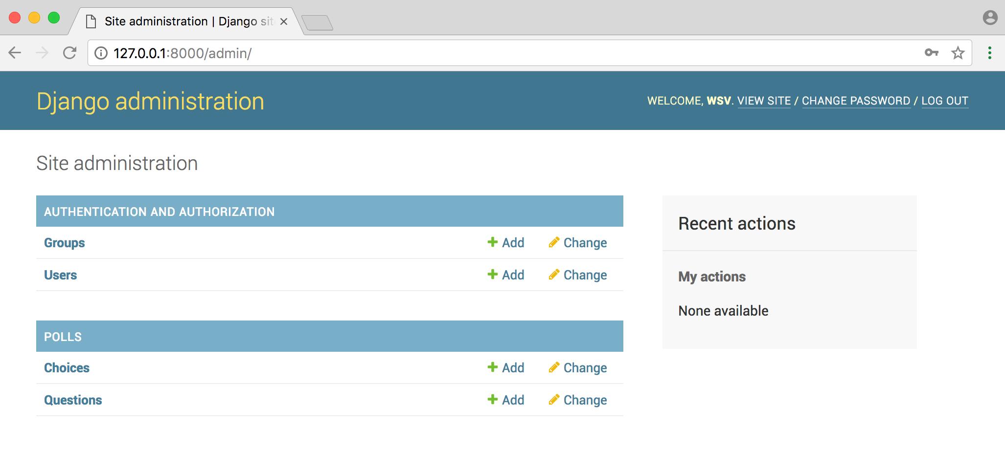 Django Polls Tutorial API - William Vincent