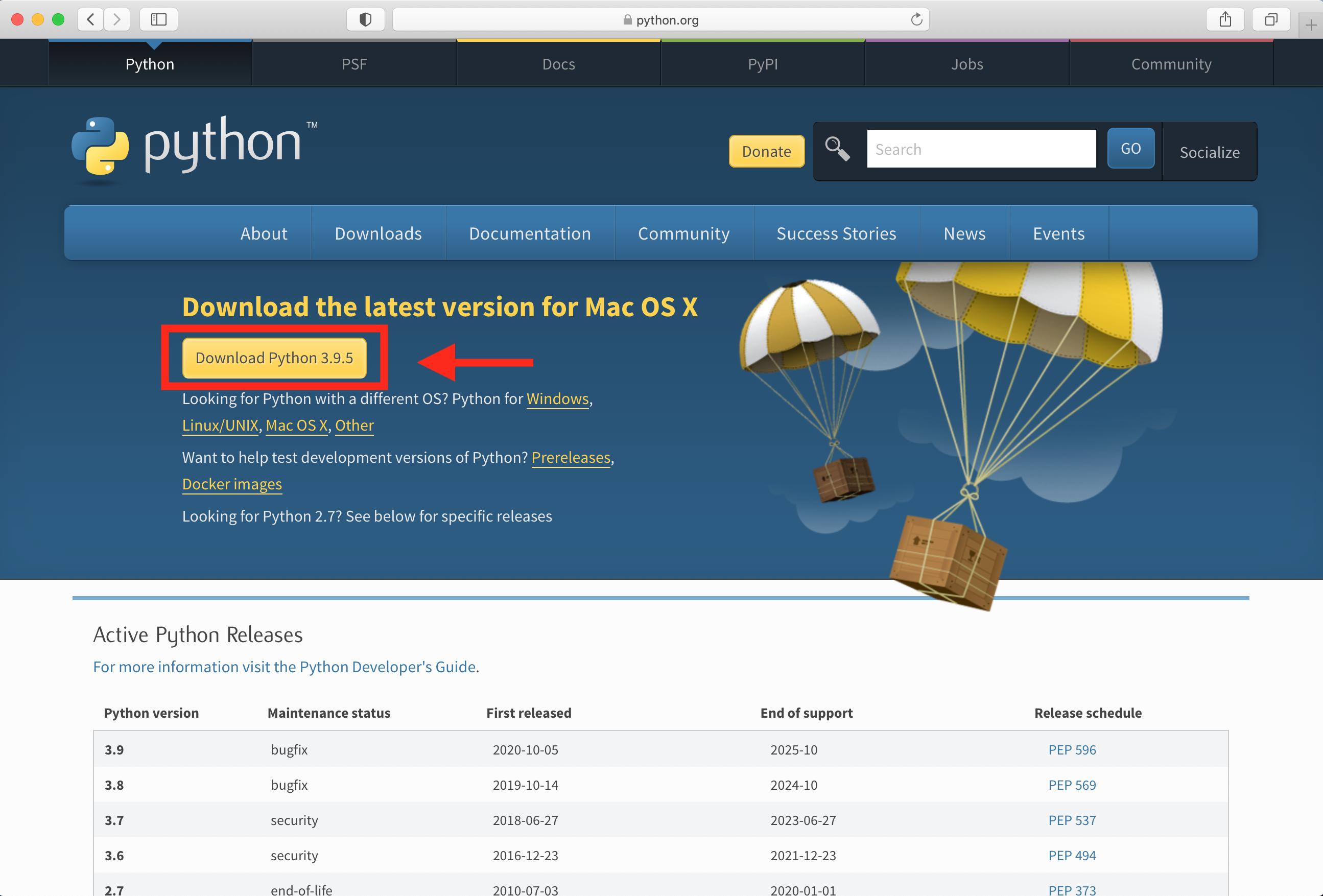 Python.org Website