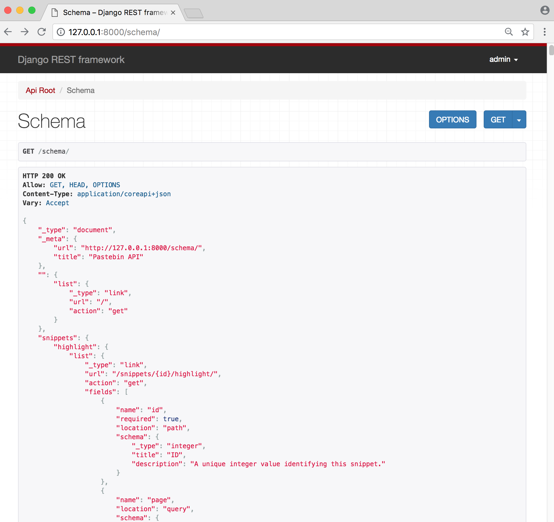 API Schema