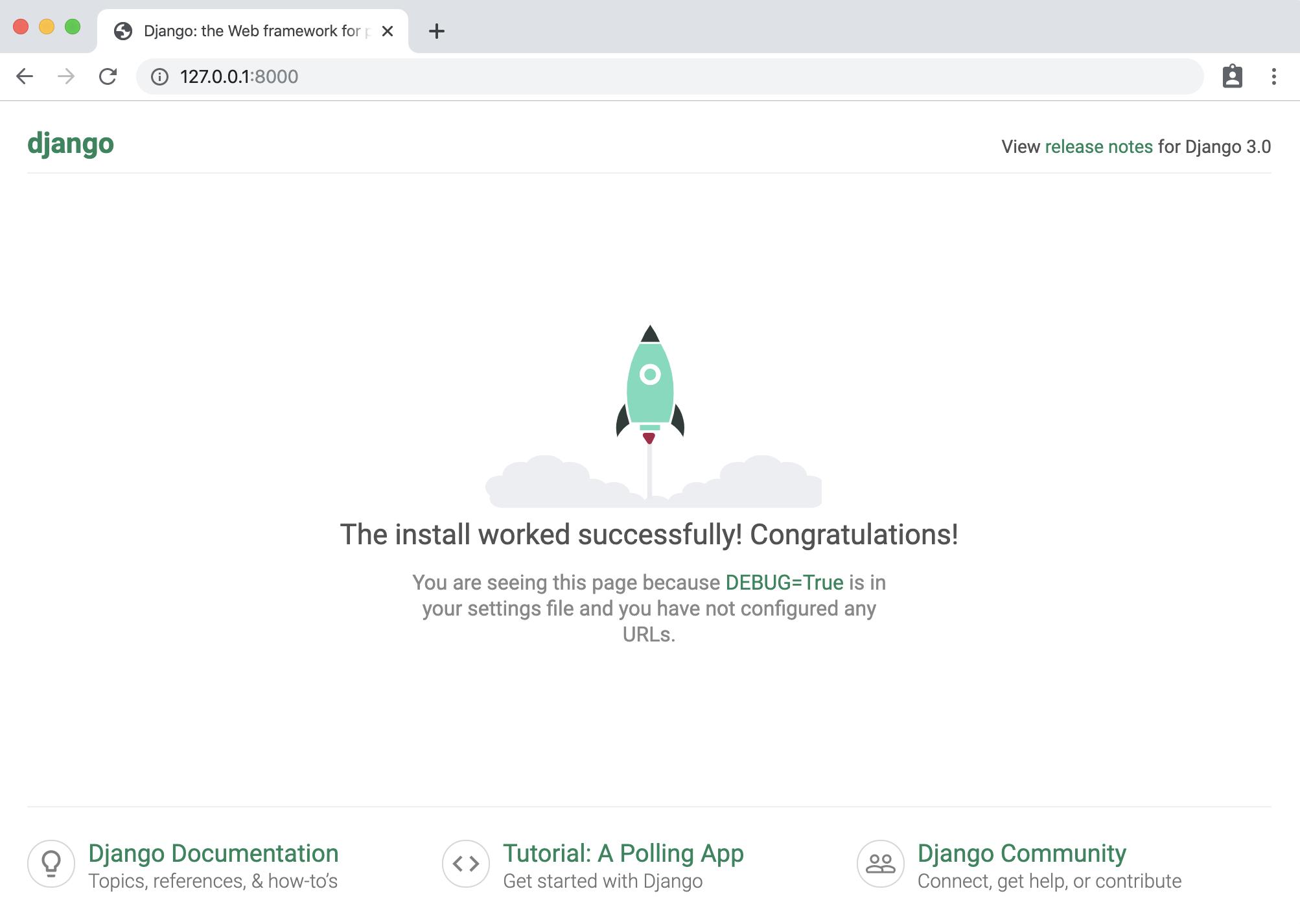 Django homepage