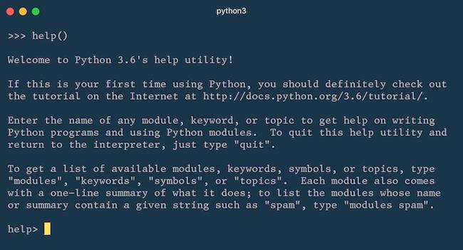 Python's Built-in Help Function - William Vincent