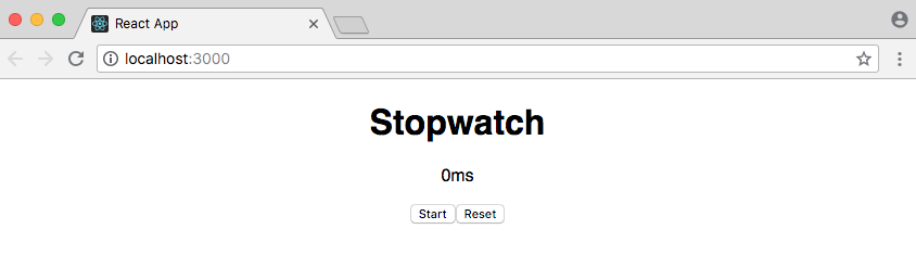 React Stopwatch - William Vincent